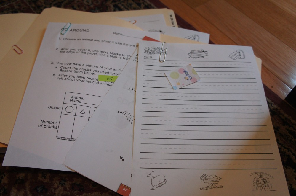 Organizing Homeschool (4/6)